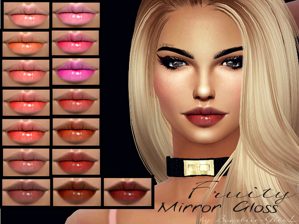 Fruity Mirror Lipgloss By Baarbiie Giirl At Tsr 187 Sims 4