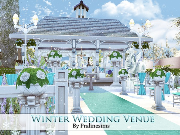 Winter Wedding Venue By Pralinesims At TSR » Sims 4 Updates