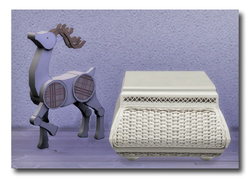 Sims 4 Coffee table and Reindeer at Msteaqueen