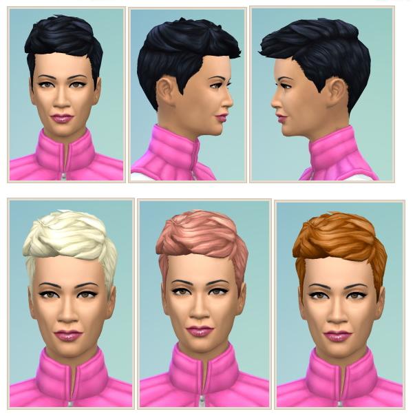 Sims 4 Short Prickley Hair at Birksches Sims Blog