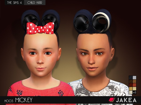 Sims 4 H003 MICKEY (Child Hair) by JAKEA Sims at TSR