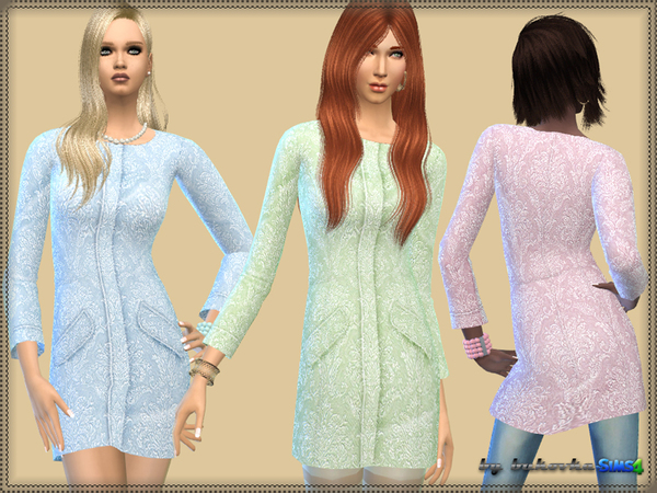 Coat of Brocade by bukovka at TSR image 2714 Sims 4 Updates