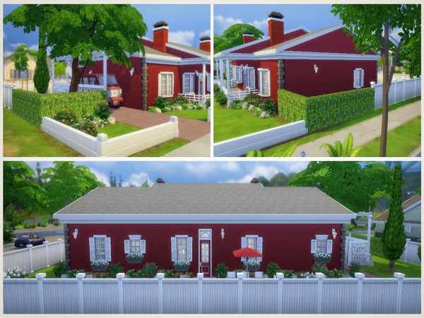Sims 4 Elm Street house by sharon337 at TSR