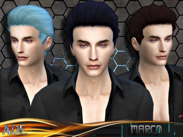 Sims 4 Ade Marco hair by Ade Darma at TSR