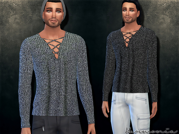 Sims 4 Plunge Lattice Sweater by Harmonia at TSR
