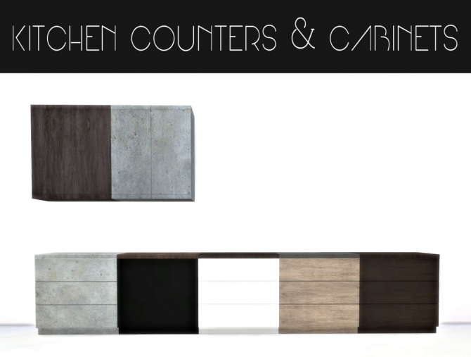 Kitchen Counters Amp Cabinets At Hvikis 187 Sims 4 Updates