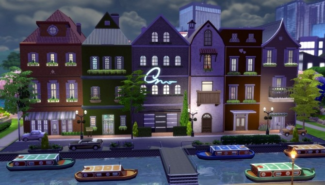 Little Amsterdam NoCC 6 Row House by una at Mod The Sims image 2916 670x381 Sims 4 Updates