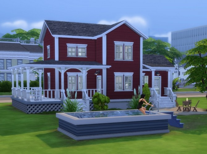 Sims 4 Frederikson house no CC by plasticbox at Mod The Sims