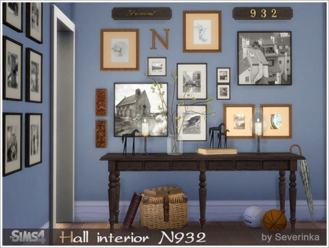 Sims 4 Hall interior N932 at Sims by Severinka