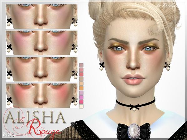 Sims 4 Alisha Rouge N08 blush by Pralinesims at TSR