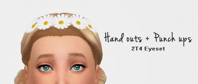 Sims 4 Conversion of Jessi's Hand outs + Punch ups Eyes at Nyloa