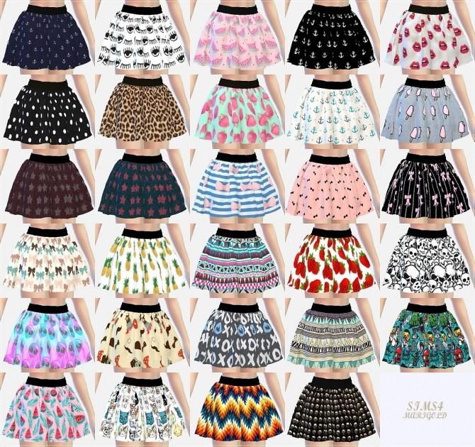 Pattern flare mini skirt v1 various at Marigold image 327 670x630 Sims 4 Updates