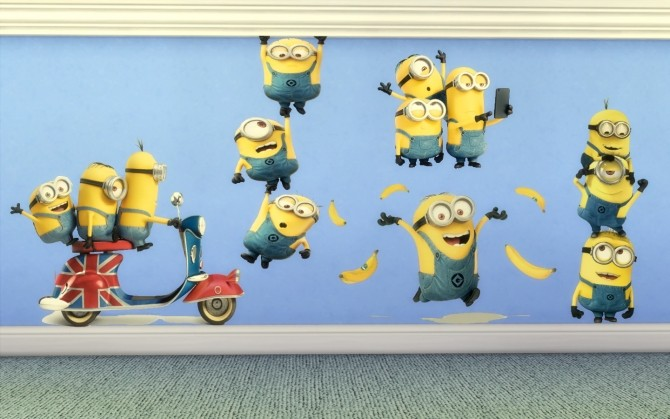 Sims 4 Minions Stickers SuperSet by Limoncella at The Sims Lover