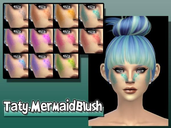 Sims 4 Mermaid Blush by Taty at TSR