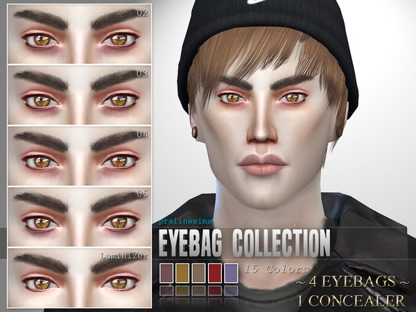 Sims 4 5 Eyebags + Concealer by Pralinesims at TSR