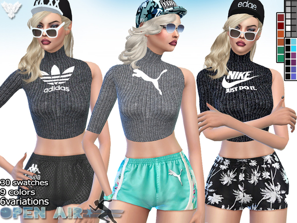 Open Air Sport Fall Sweater by Pinkzombiecupcakes at TSR image 3420 Sims 4 Updates