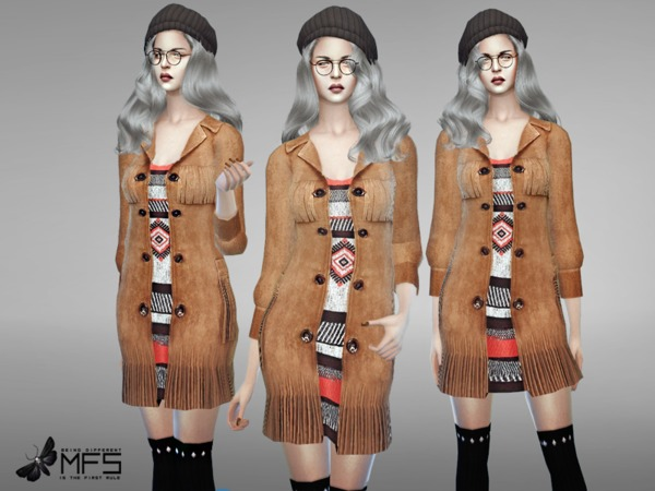 Sims 4 MFS Naomi Long Coat by MissFortune at TSR