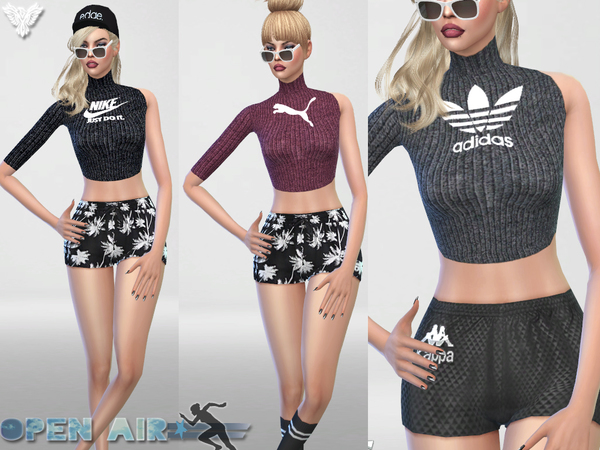 Open Air Sport Fall Sweater by Pinkzombiecupcakes at TSR image 3521 Sims 4 Updates