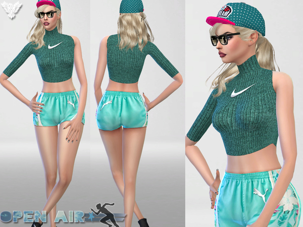 Open Air Sport Fall Sweater by Pinkzombiecupcakes at TSR image 3620 Sims 4 Updates