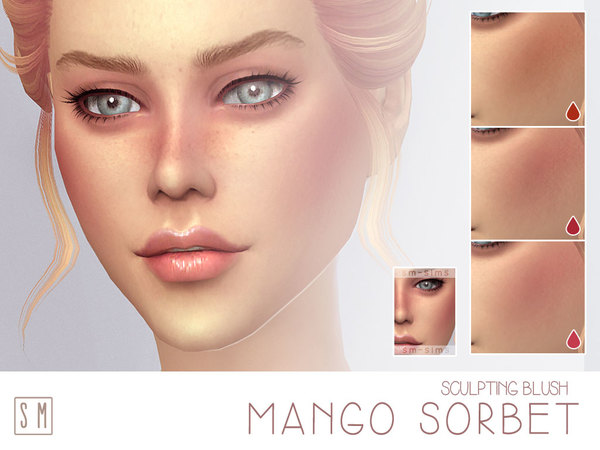 Mango Sorbet Ruddy Blush by Screaming Mustard at TSR image 373 Sims 4 Updates