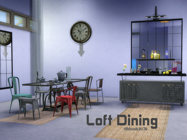 Loft Dining by ShinoKCR at TSR image 375 Sims 4 Updates