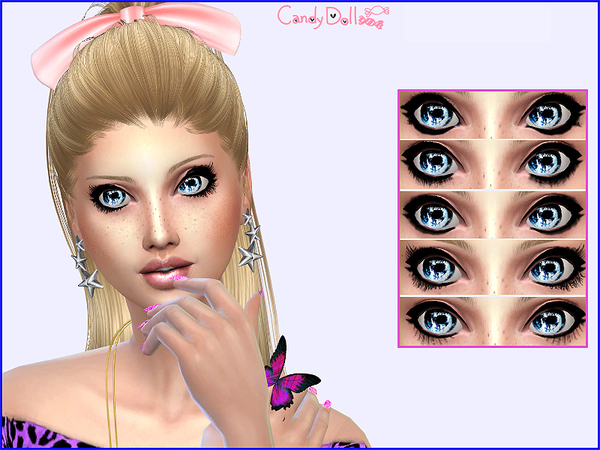 Sims 4 Candy Doll Real Cute Lashes by DivaDelic06 at TSR