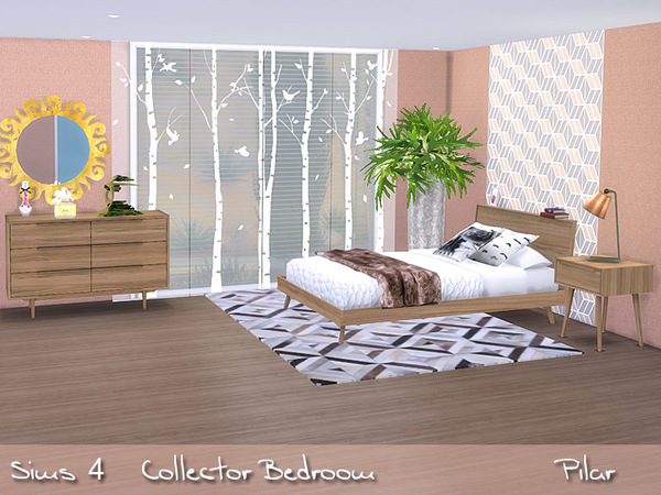 Sims 4 Collector Bedroom by Pilar at TSR