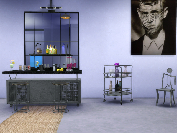 Loft Dining by ShinoKCR at TSR image 386 Sims 4 Updates