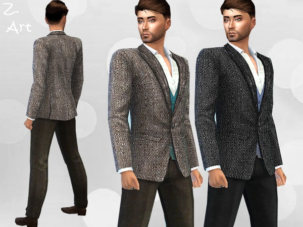 Sims 4 Smart Fashion VI trousers and jacket by Zuckerschnute20 at TSR