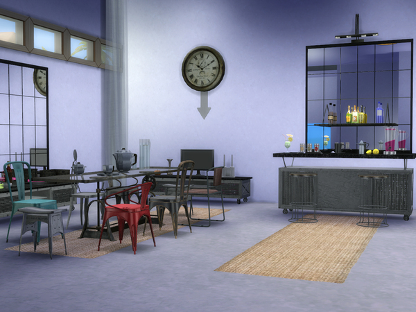 Loft Dining by ShinoKCR at TSR image 396 Sims 4 Updates