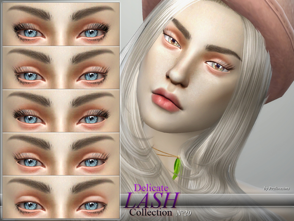Sims 4 Delicate Lash Collection N20 by Pralinesims at TSR