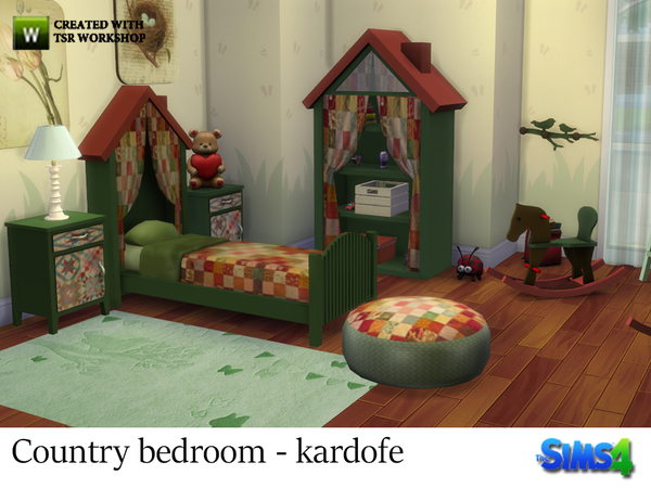 Sims 4 Country bedroom by kardofe at TSR