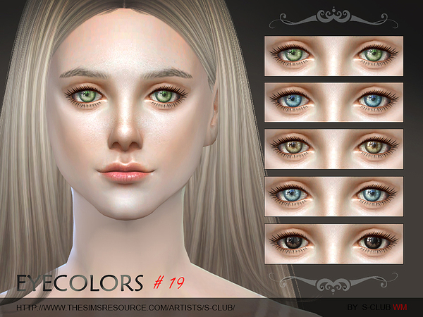 Sims 4 Eyecolor 19 by S Club WM at TSR