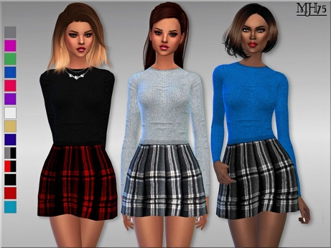 Wool And Tartan Outfit by Margie at Sims Addictions image 4116 670x503 Sims 4 Updates