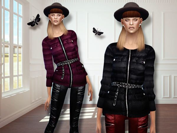 Sims 4 MFS Elise Jacket by MissFortune at TSR