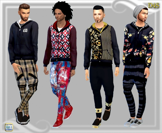 Black hoodies at Dreaming 4 Sims u00bb Sims 4 Updates