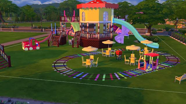 Joyful Kids Playground Set At Sanjana Sims 187 Sims 4 Updates