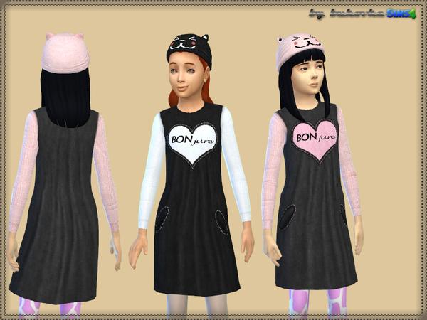 Sims 4 Dress Bonjure by bukovka at TSR