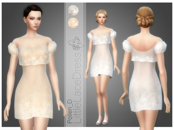 Little Lace Dress 05 by Pollen D at TSR image 4615 Sims 4 Updates