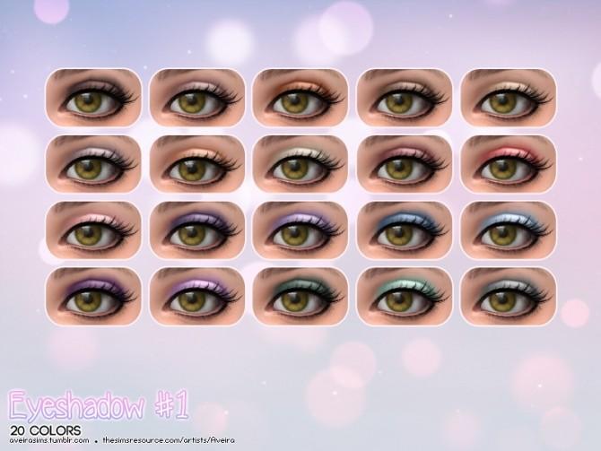 Sims 4 Eyeshadow #1 at Aveira Sims 4