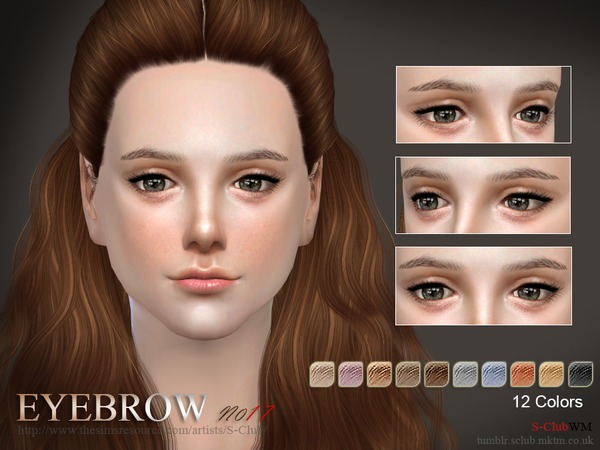 Sims 4 Eyebrows 17 F by S Club WM at TSR