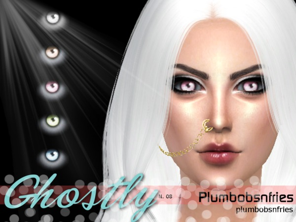 Sims 4 Ghostly Eyes N08 by Plumbobs n Fries at TSR