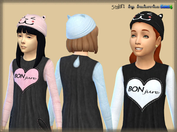Sims 4 Hat with Ears by bukovka at TSR