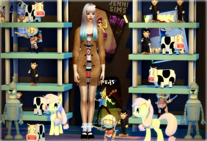 Decoration for kids Vol7 (Biddaddydoll, Evils, Cow, Little pony, Bender) at Jenni Sims image 487 670x455 Sims 4 Updates