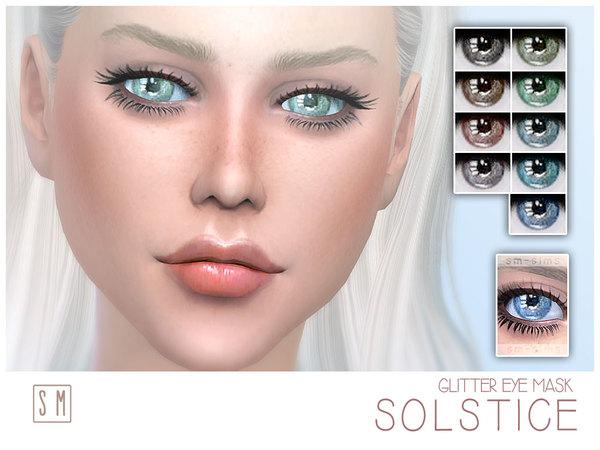 Sims 4 Glitter Eye Mask by Screaming Mustard at TSR