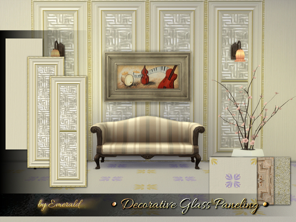 Decorative Glass Paneling by emerald at TSR image 4915 Sims 4 Updates