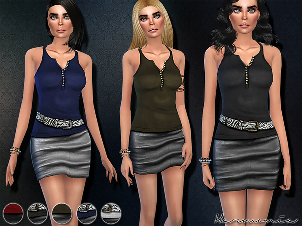 Fashionable Outfit 02 by Harmonia at TSR image 5 Sims 4 Updates