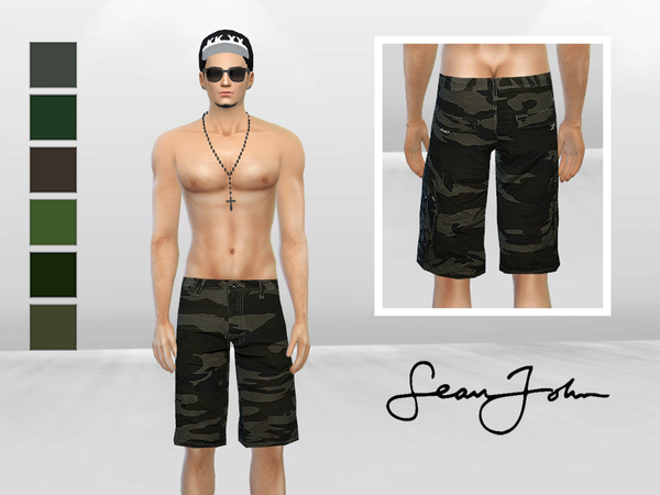 Combat Military Style Short by McLayneSims at TSR image 5015 Sims 4 Updates