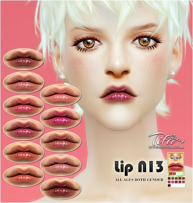 Sims 4 Lips N13 at Tifa Sims