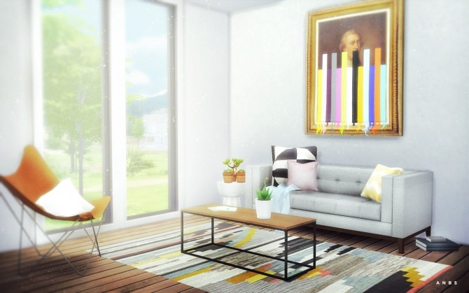 West Elm Box Frame Coffee Table at Alachie & Brick Sims » Sims 4 Updates